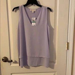 Light Quartz Michael Kors Ladies Blouse Size LG